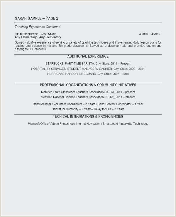 1st Year Teacher Resume Elegant Student Teacher Resume
