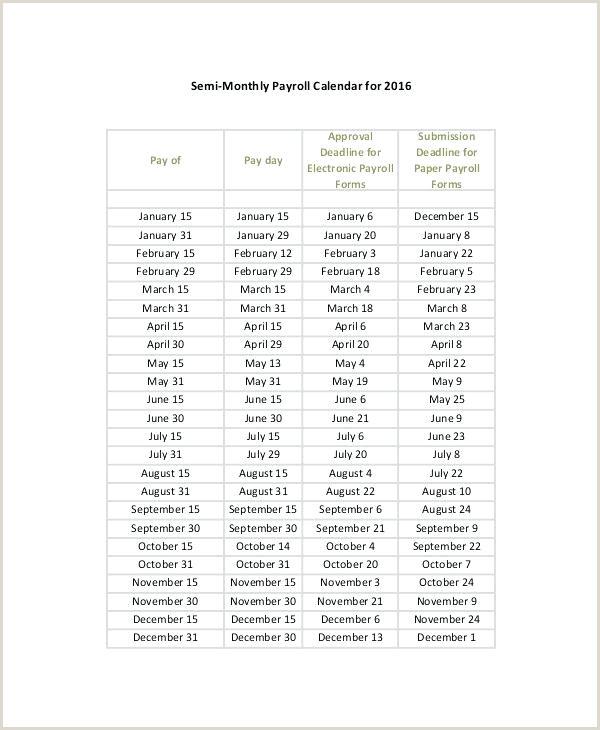 2018 Biweekly Payroll Calendar Excel Excel Payroll Calendar Template Payroll Calendar Template Bi