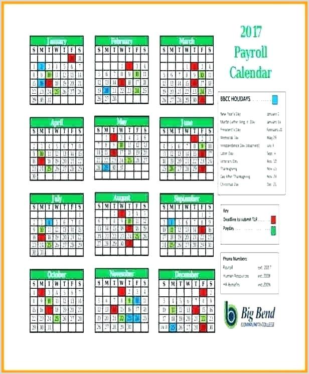 2018 Biweekly Payroll Calendar Excel Payroll Schedule Template Pay Schedule Template Payroll