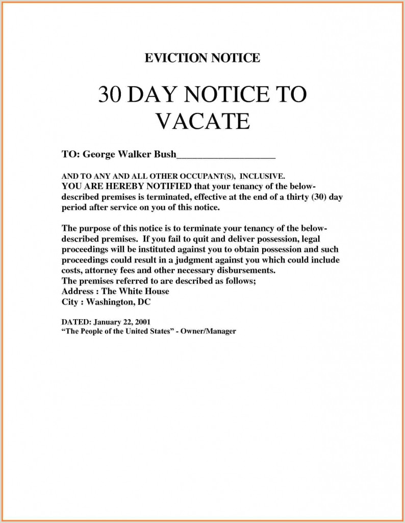30 Day Notice Sample Letter C³mo Descargar 013 Sample Letters Eviction Notice to