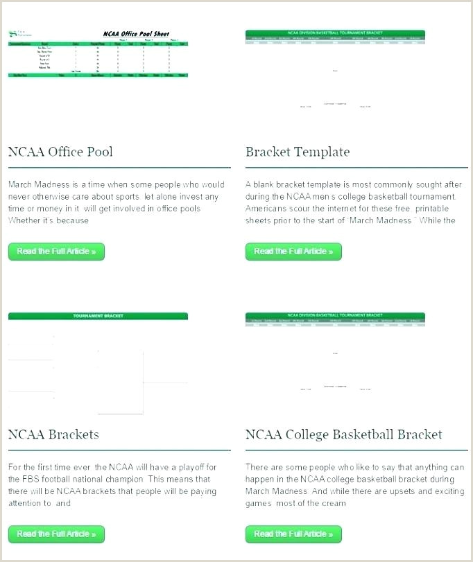 Tournament Bracket Template Excel In 4 Team Basketball 8