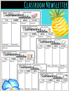 Free Editable Homework And Newsletter Templates In 36