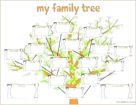 Free Easy Family Tree Template Genealogy Tree Template 5