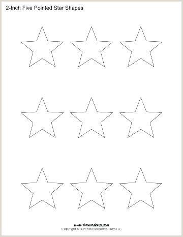 5 Point Star Template 4 Inch Star Blank Stencil 5 Printable Shape Template