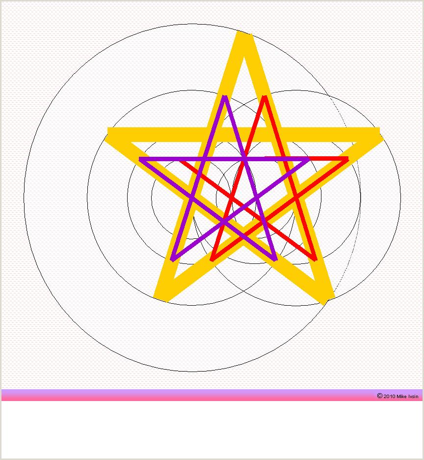 Draw five point star pentagram pentacle pentagon Other