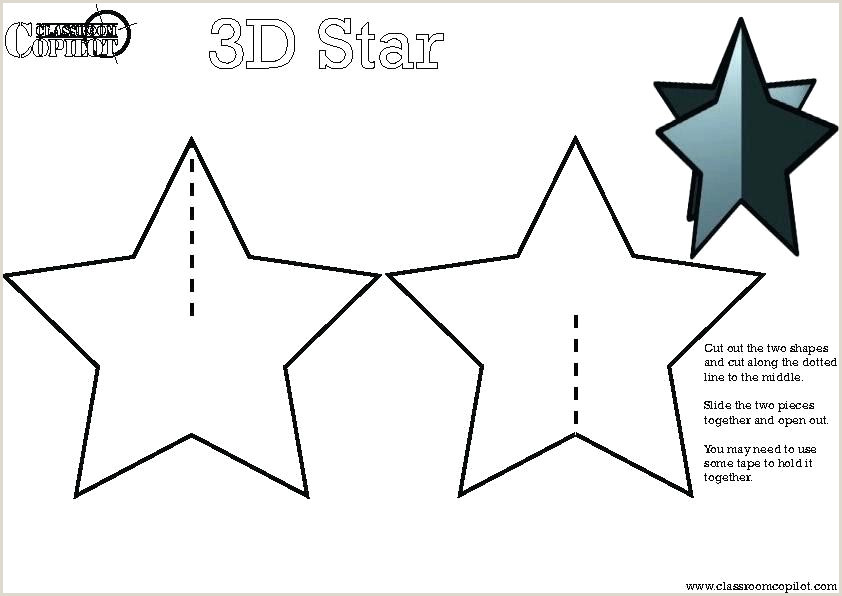 five point star template