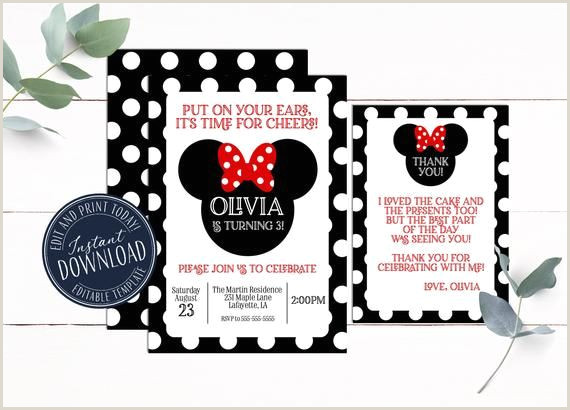 Minnie Invitation Red Minnie Invitation Instant Download
