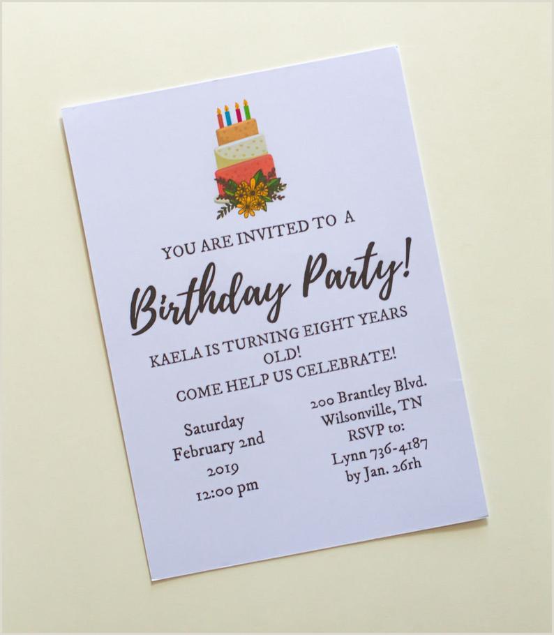 5x7 Invitation Templates Birthday Party Invitation