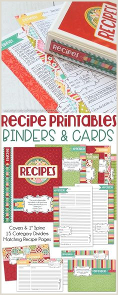 5x7 Recipe Card Holder 576 Best Printable Recipe Cards Images In 2019