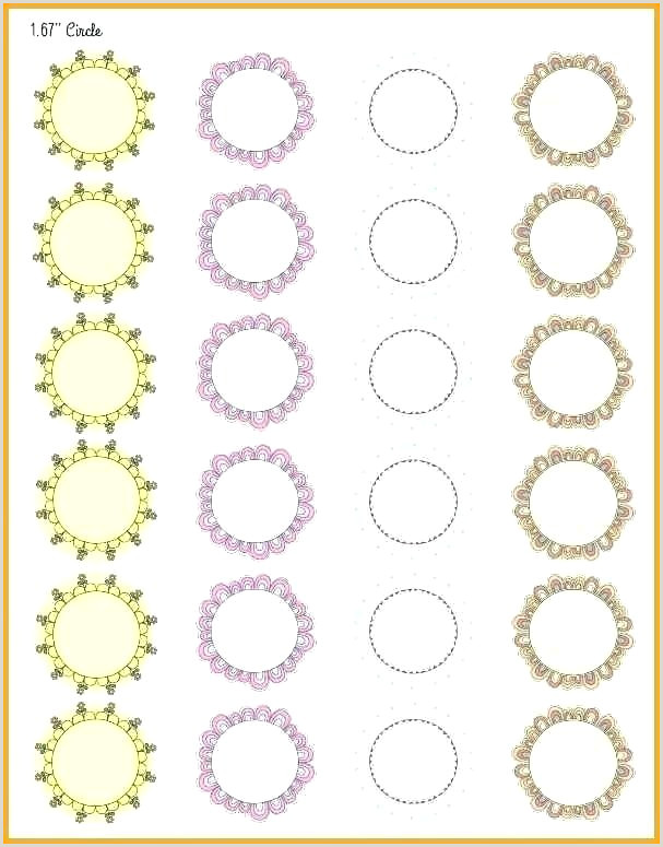 6 Inch Diameter Circle Template Free Label Templates for Downloading and Printing Labels 1