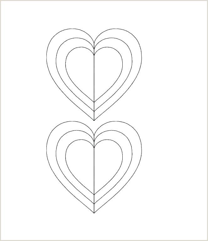 6 Inch Heart Template Valentine Heart Stencil – Wittyhood