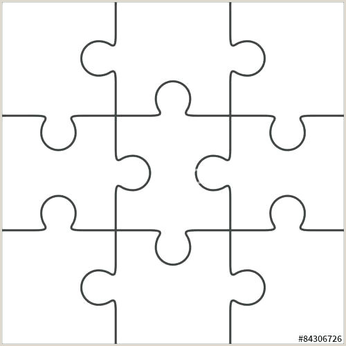 8 piece jigsaw puzzle template – metabots