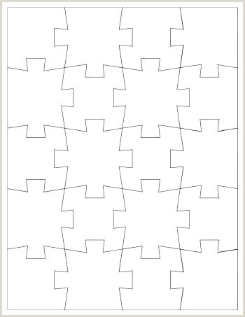 Blank Puzzle Pieces Template 4 Piece Jigsaw 2 Post Puzzles
