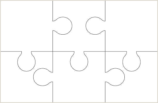 Puzzle Templates 8 Piece Template 7 Pieces Attractive Free