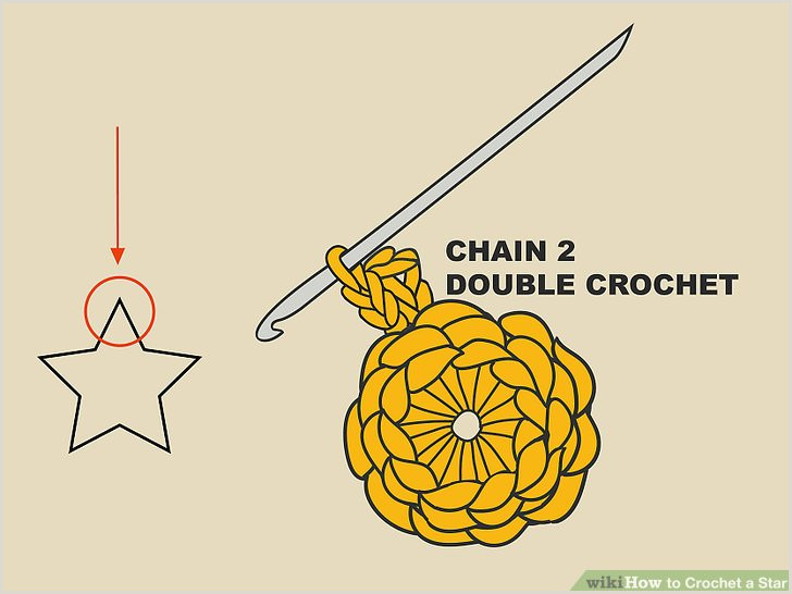 6 Pointed Star Template 3 Ways to Crochet A Star Wikihow
