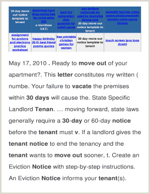 30 day move out notice template to tenant odahive1