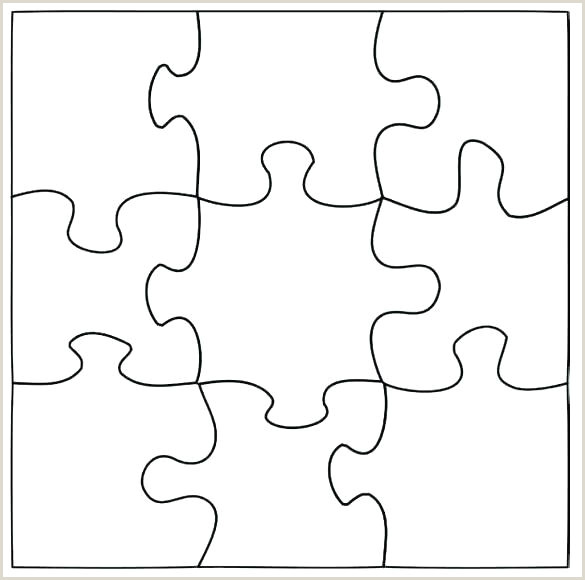 10 piece blank puzzle template