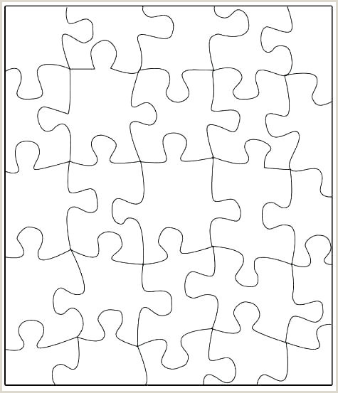 7 Piece Puzzle Template Giant Puzzle Template Best Blank Pieces Piece Printable