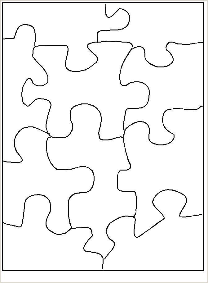 puzzle piece stencil free – dstic