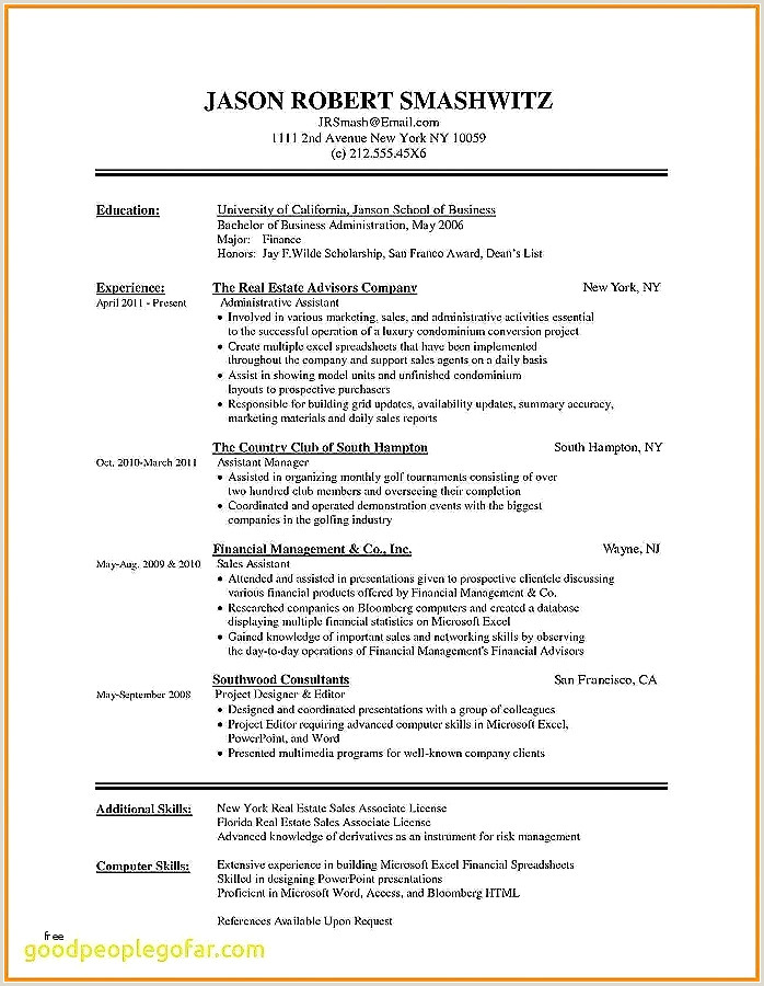 Unique Modern Day Resume format