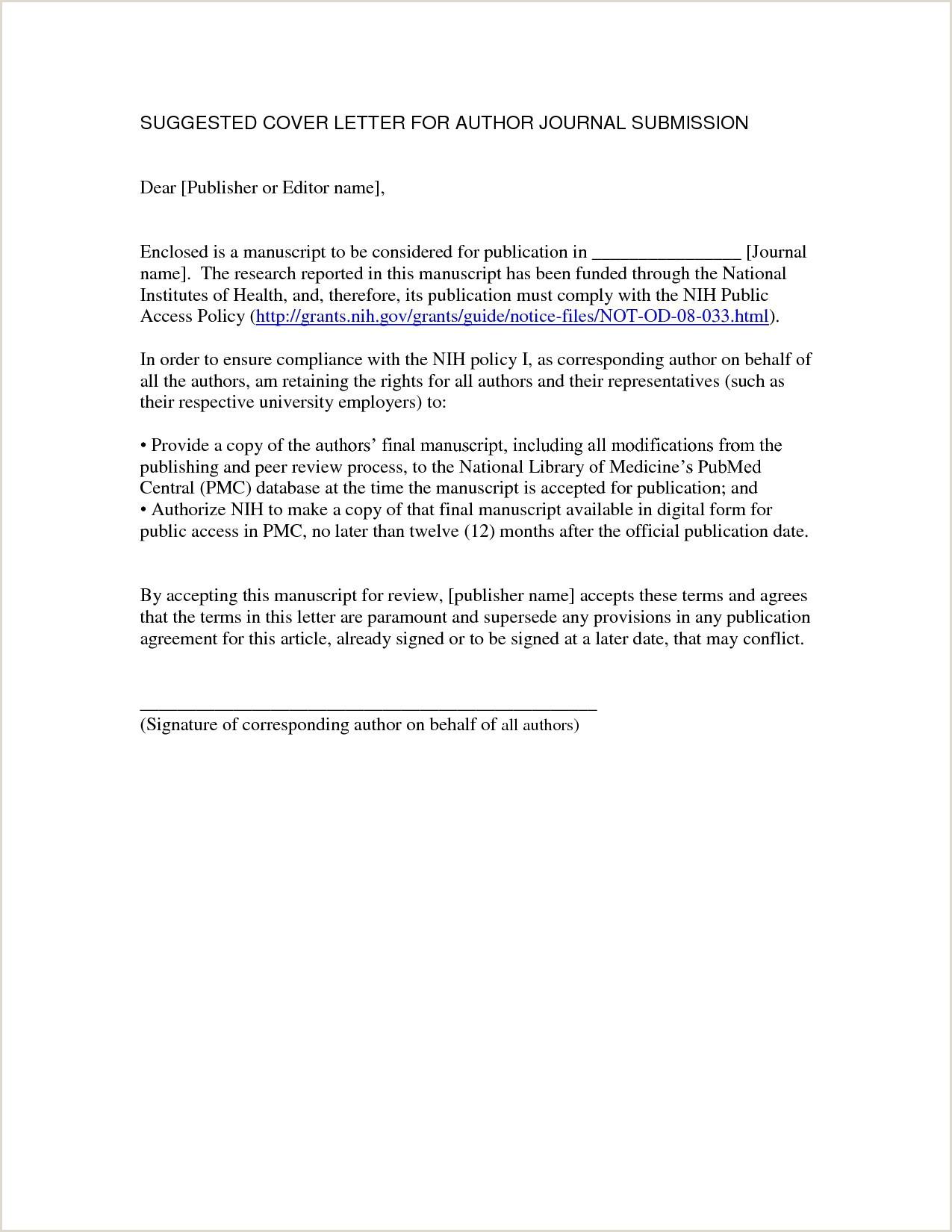 Cv Cover Letter format Pdf New Cover Letter for Journal