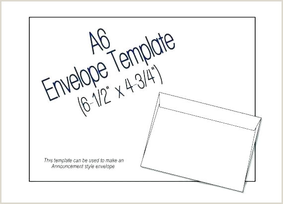 A6 Envelope Liner Template A6 Envelope Template