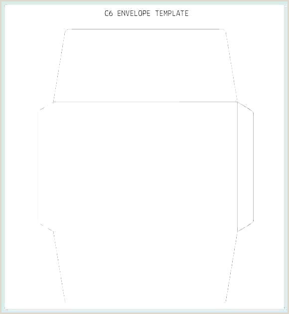 A6 Envelope Liner Template Square Envelope Template