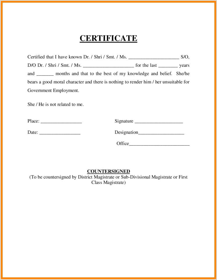 40 Employment Certificates PDF DOC – Employment