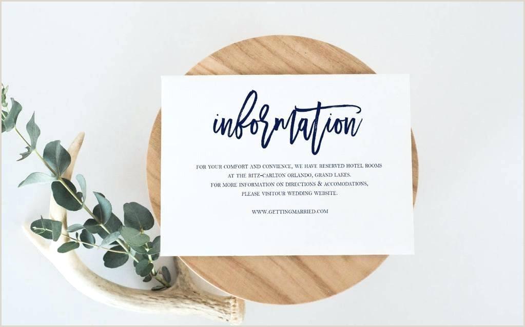 Accommodation Card Wording Information Card for Wedding – Jwintz