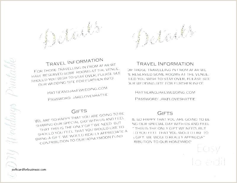 Wedding Guest Information Card Template Ac modation Hotel
