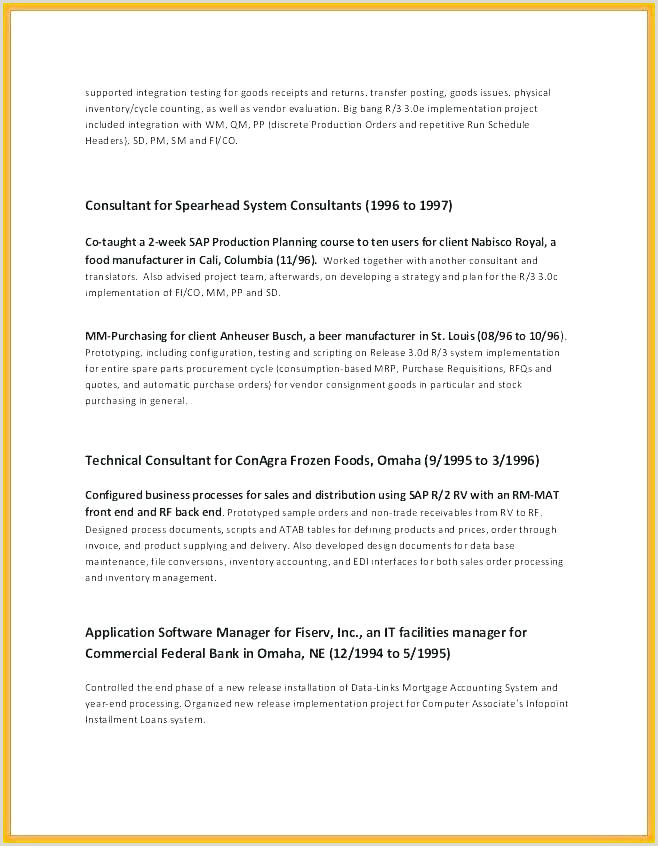 Consultant Cover Letter