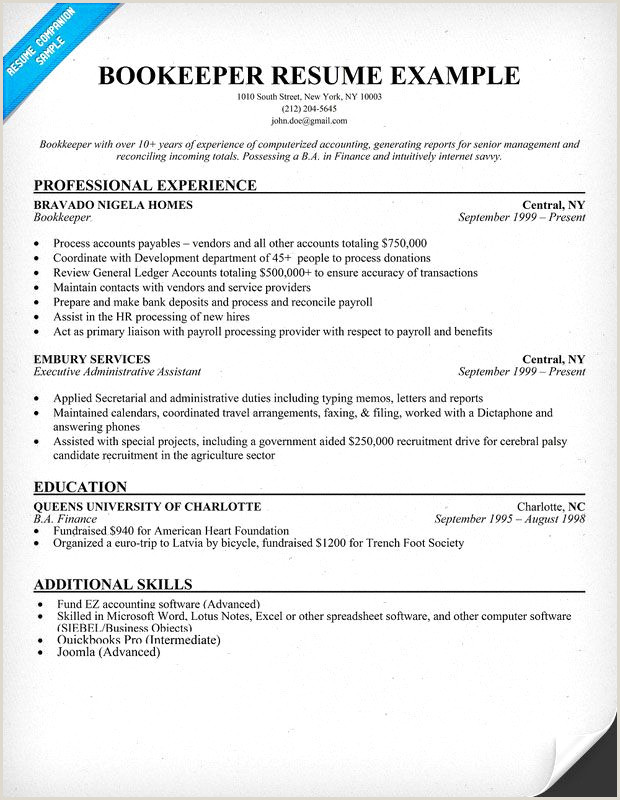 Professional Accounting Resumes Examples Professional