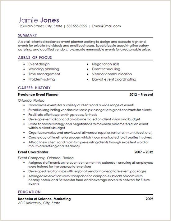 Event Coordinator Resume Examples