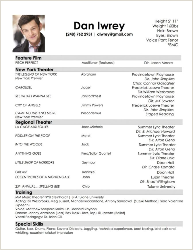 Actors Cover Letter Headshot Resume Template Acting Example Fresh Best Actor