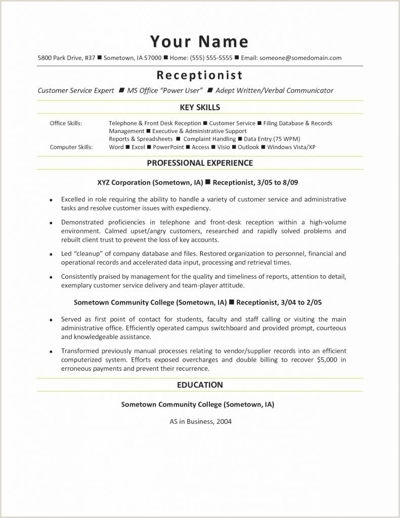 Receptionist Administrative assistant Resume Luxury Resume