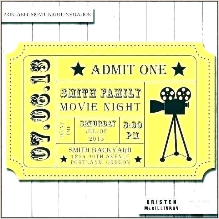 Admission Ticket Template Entry Ticket Template