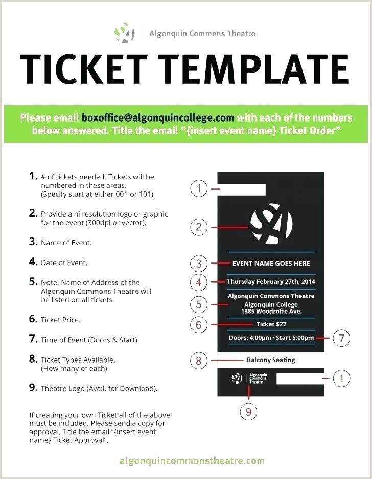 Printable Theatre Ticket Template Admission Tickets Movie