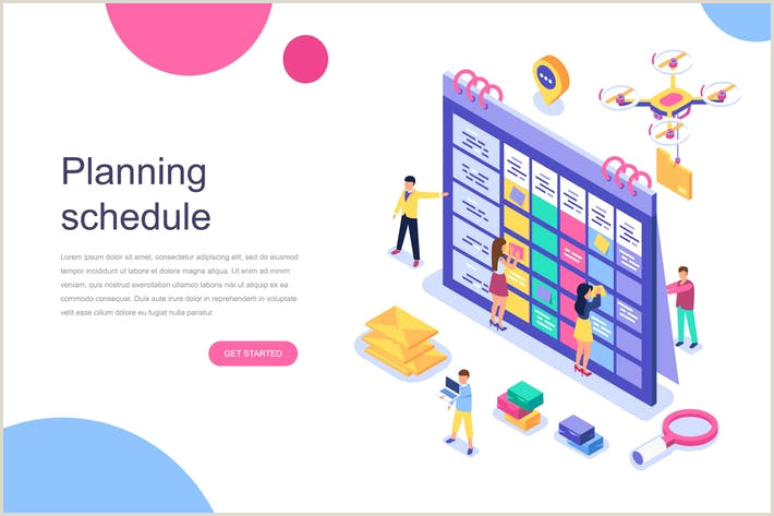 Adobe Illustrator Calendar Template Planning Schedule isometric Concept by Alexdndz On Envato