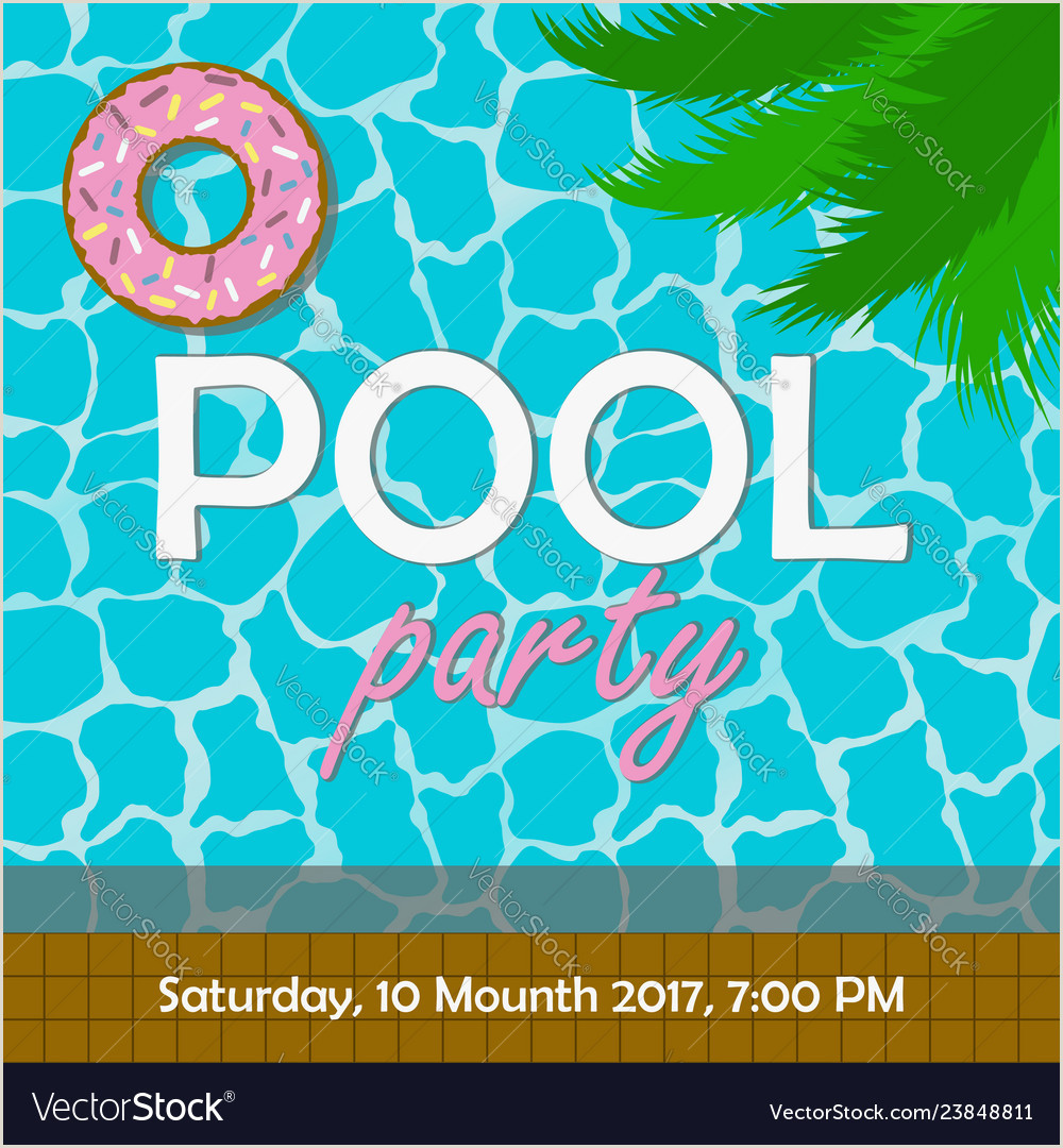 Pool party invitation or poster banner