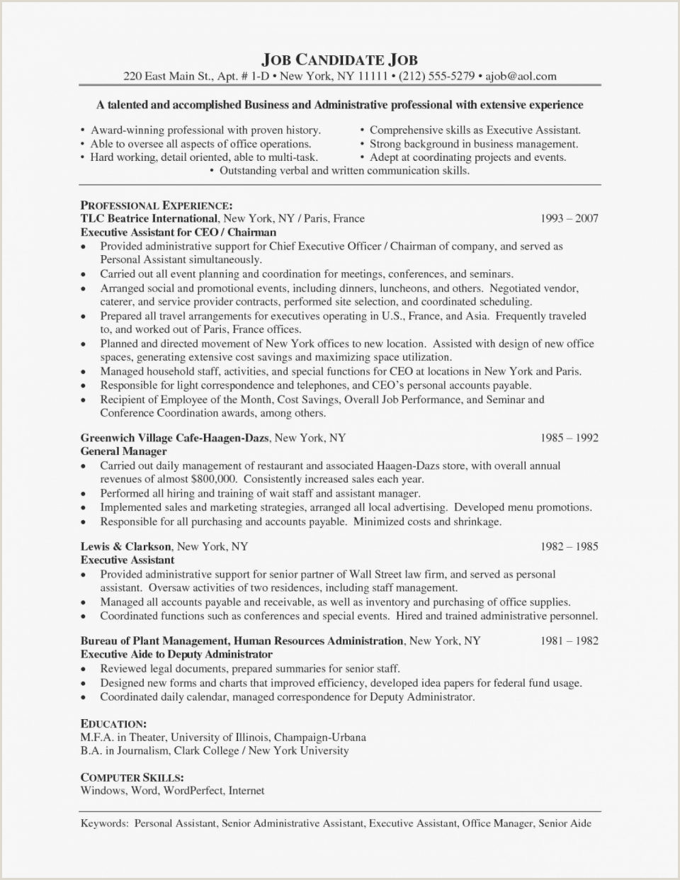 Advertising Account Executive Resume 100 Free Resume Samples Examples at Resumestime Executive Cv