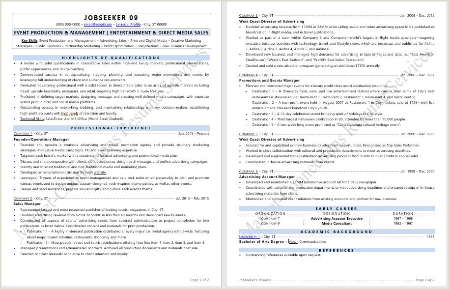 Advertising Account Executive Resume Cutting Edge Industry Specific Resume Samples Certified