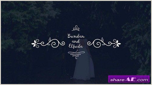 Wedding Titles After Effects Template Motion Array