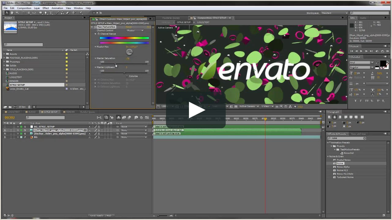 After Effects Tutorial Abstract 3D Corporate Business Intro Template Customization