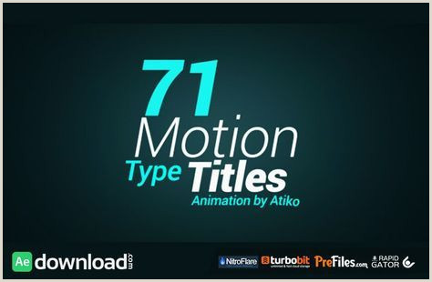 After Effects Title Animation Videohive Motion Type Title Animations Free Download Free