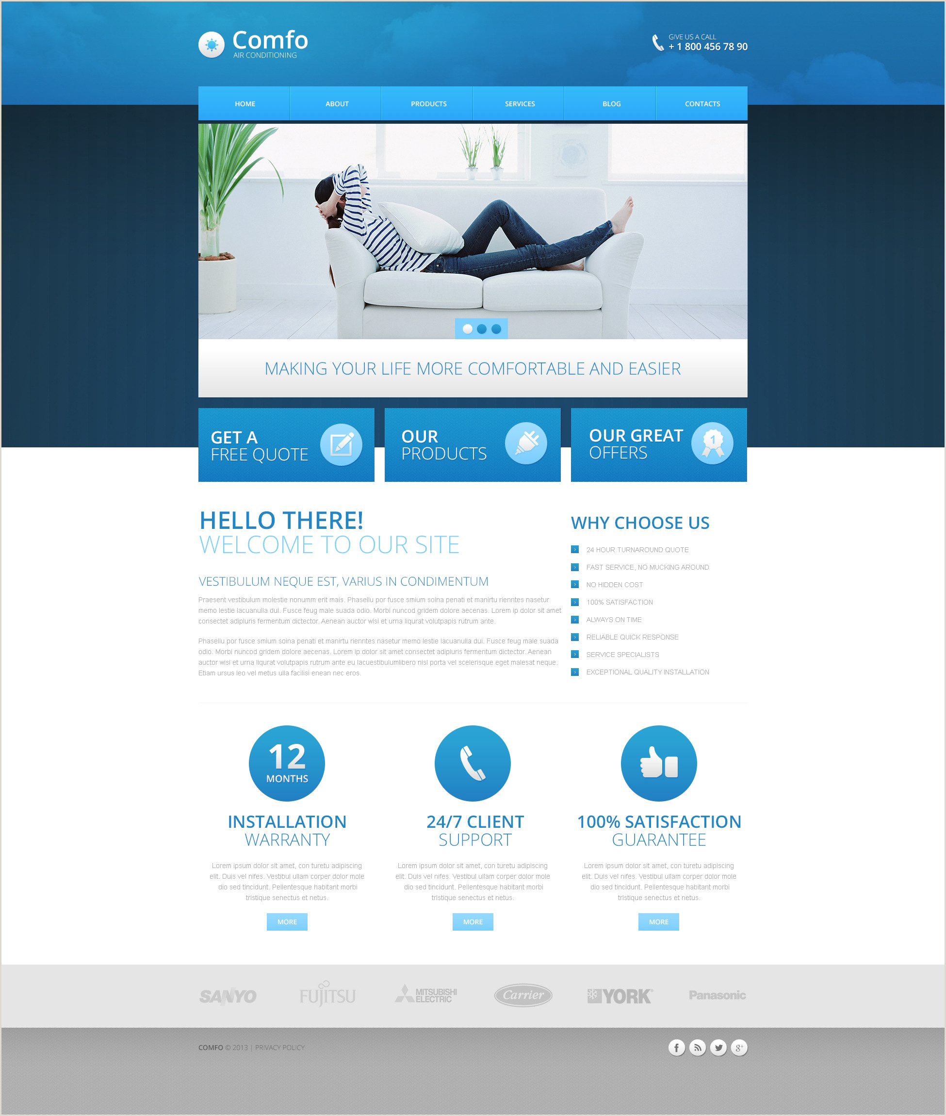 Air Conditioner Website Templates Free Download Cms Blog Templates