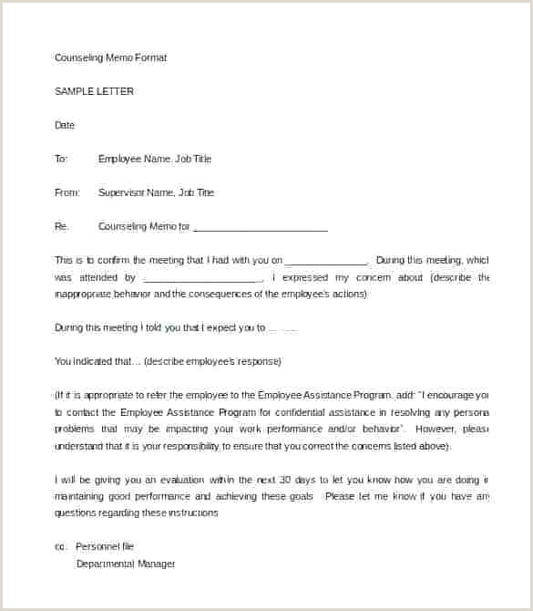 Air force Letter Of Counseling Counseling Memo Template Examples Example Counselling Letter