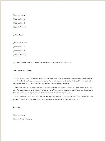Air force Letter Of Counseling Examples Employee Warning Letters Template Awesome Letter Reprimand