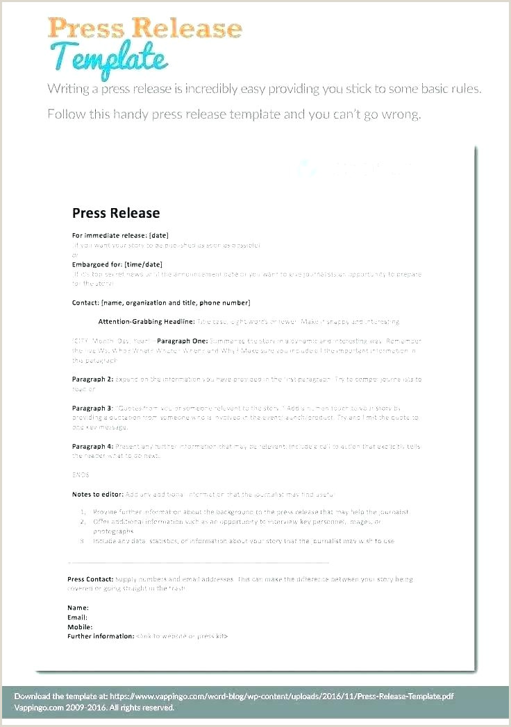 music press release template