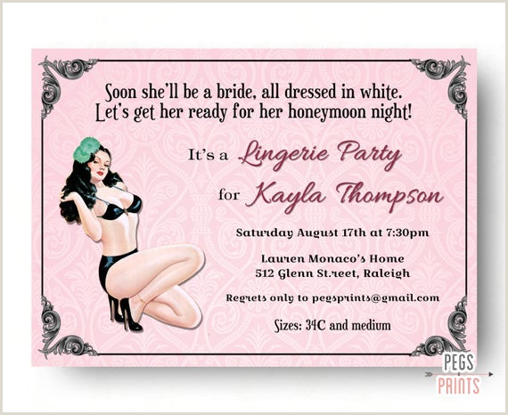All White Party Flyer Items Similar to Pin Up Girl Lingerie Shower Invitation