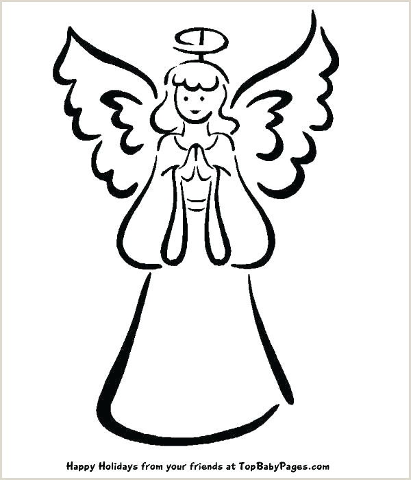 Angel Drawing Template Stencils Printable Wings